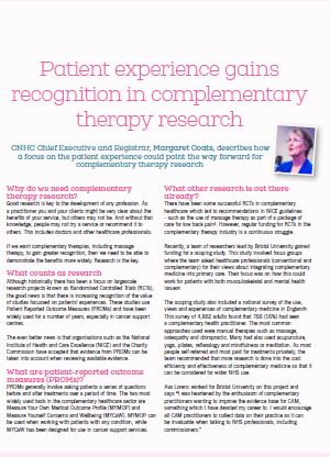 CNHC article published in latest edition of Massage World