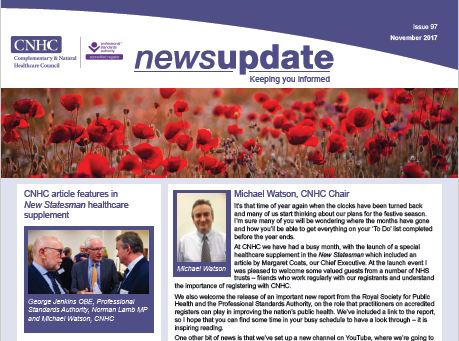 CNHC November Newsletter - out now!