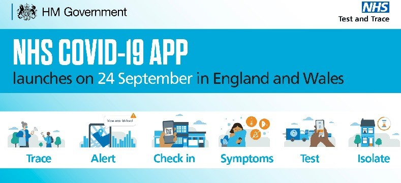 NHS COVID-19 app: NHS QR code and poster for close contact services in England and Wales